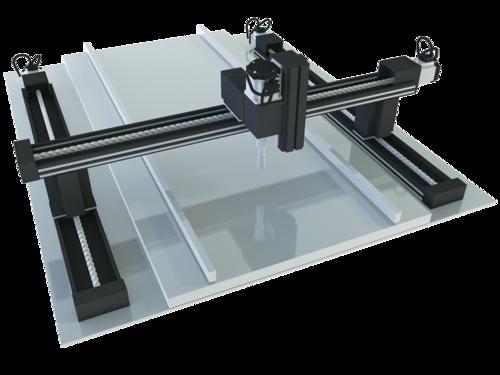 Compact PLC FP-XH control of gantry mechanism