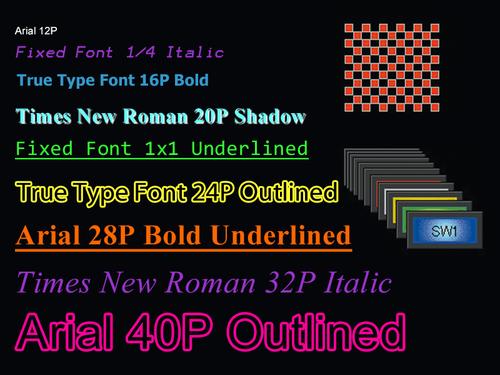 HMI GT03-E Highly flexible screen design