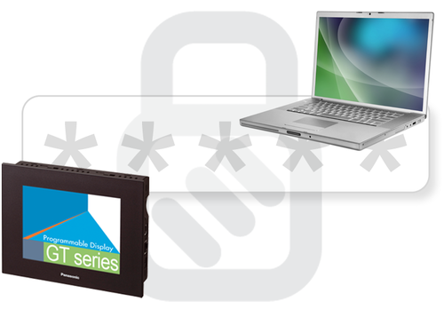 HMI GT03-E Enhanced security with password protection