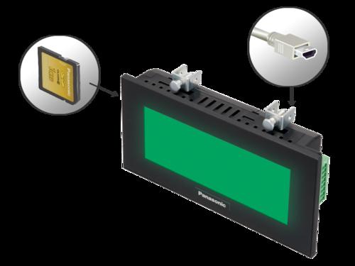 HMI GT12 Mini USB interface and SD memory card