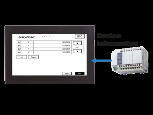 HMI GT707 Status monitor