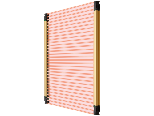 SF4D safety light curtain new concept: both compact and robust