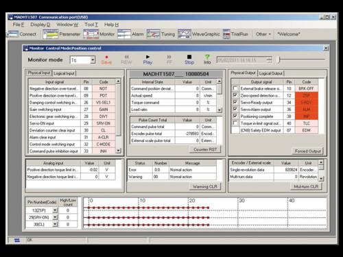 Servo drives software PANATERM monitoring function