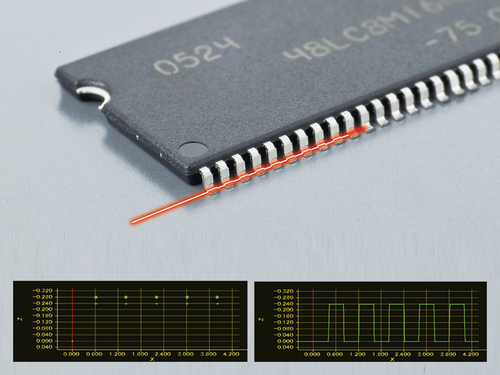 HL-D3 measurement sensor Detecting misaligned pins on surface-mounted components