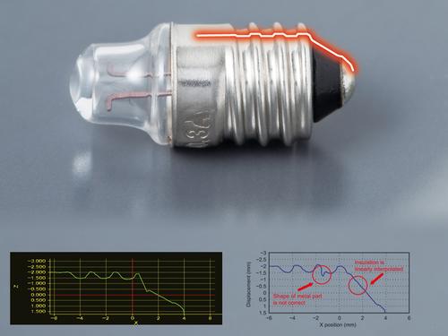 HL-D3 measurement sensor Measuring objects with a sloped profile