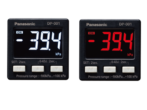 DP-0 pressure sensor Red or white selectable as display color