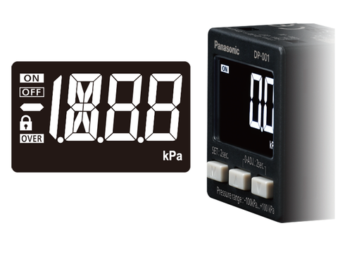 DP-0 pressure sensor Simple and highly visible display