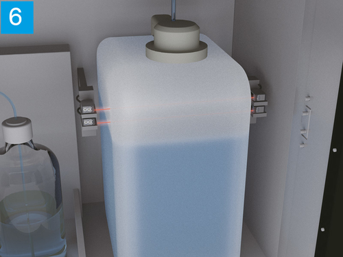 Full level detection of waste tank