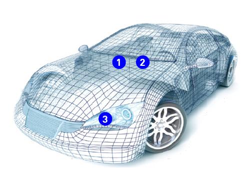 circuit protection multilayer NTC thermistors Usage example Automotive ECU