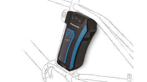 e-bike Curved upright battery