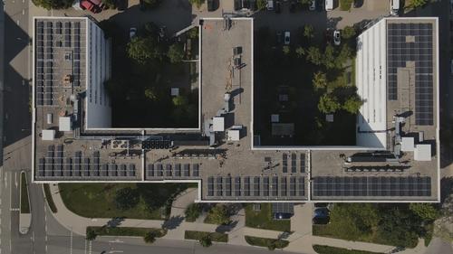 Panasonic Industry Headquarters PV Installation top view