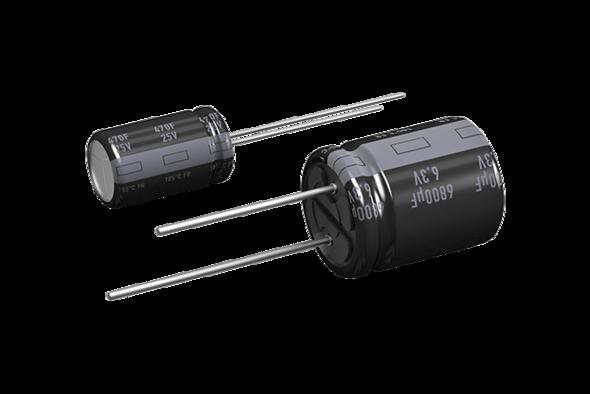 capacitor lytic radial FR