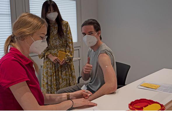Vaccination program at headquarters in Ottobrunn